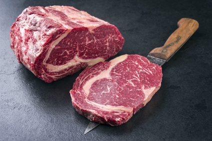 Image of Hand Cut Ribeye Steaks.
