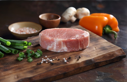 Photo of the American Cut Pork Chop.